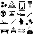 pool snooker billiards icons set vector image vector image