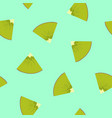 seamless pattern with a slice of kiwifruit vector image vector image
