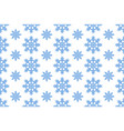 seamless pattern with blue snowflakes winter vector image vector image