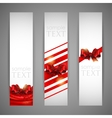 set banners with red bows and ribbons vector image vector image