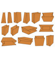 set of different brown paper bags vector image vector image