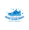 shoe laundry logo design vector image vector image
