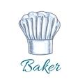 Sketched chef hat or baker cap for menu design vector image