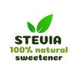 stevia leaves symbol natural sweetener substitute vector image vector image