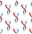 Stylized DNA spiral helix seamless pattern vector image vector image