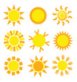 sun set collection in yellow vector image vector image
