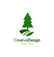 tree pine landscaping naturally logo vector image vector image