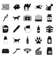 vet icons set simple style vector image vector image