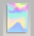 wavy cold colored gradient backdrop vector image