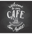 Welcome to our cafe chalkboard printable vector image vector image