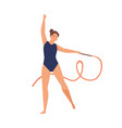 young graceful woman doing professional rhythmic vector image