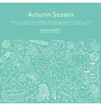 Autumn background made of many line icons vector image