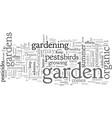 an organic summer garden experience vector image vector image