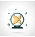 Astronomy pendulum flat color design icon vector image vector image