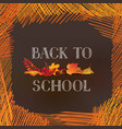 back to school banner autumn leaves over vector image