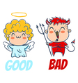 bad and good vector image vector image