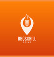 barbecue and grill logo bbq fire flame n ite vector image vector image