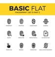 Basic set of Fingerprint icons vector image vector image
