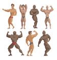 bodybuilder sportsman characters muscular vector image vector image