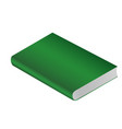 book green isolated on white background vector image