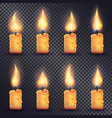 candles fire animation on transparent background vector image vector image
