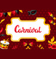 carnival party background with celebration icons vector image vector image