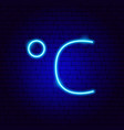celsius neon sign vector image