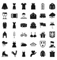 clothing icons set simple style vector image vector image