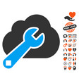 cloud options icon with love bonus vector image