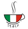 coffee cup with italian flag vector image