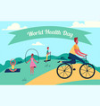 colorful of world health day vector image vector image