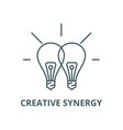 creative synergy line icon linear concept vector image