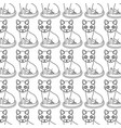 cute kitty mascot icon vector image vector image