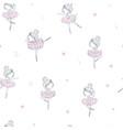dancing ballerina childish seamless pattern vector image
