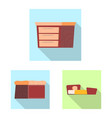 design of furniture and apartment icon vector image
