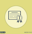 diploma for the first place vector image vector image