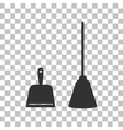Dustpan sign Scoop for cleaning garbage vector image vector image