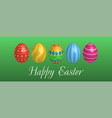 easter egg icons geometric design texture vector image