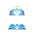 education book icon template vector image