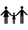 family glyph icon vector image vector image