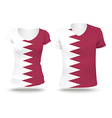 Flag shirt design of Quatar vector image vector image