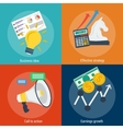 Four concepts steps to success vector image vector image