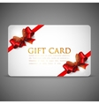 gift cards with red bows and ribbons vector image vector image