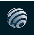 globe logo element symbol globalization vector image