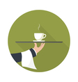 green tea on a tray vector image vector image