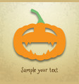 halloween card with funny pumpkin vector image vector image