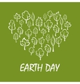 Heart with trees symbol for Earth Day design vector image vector image