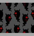 heck seamless pattern daemon black ghost vector image vector image