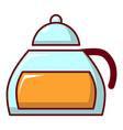 honey in glass jar icon cartoon style vector image vector image
