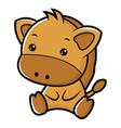horse character sits forward asian zodiac vector image